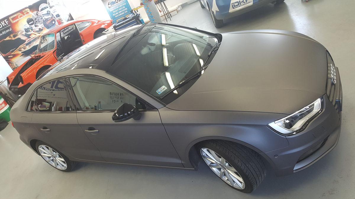 Audi A3 Zmiana Koloru – Matte Metallic Gunmetal