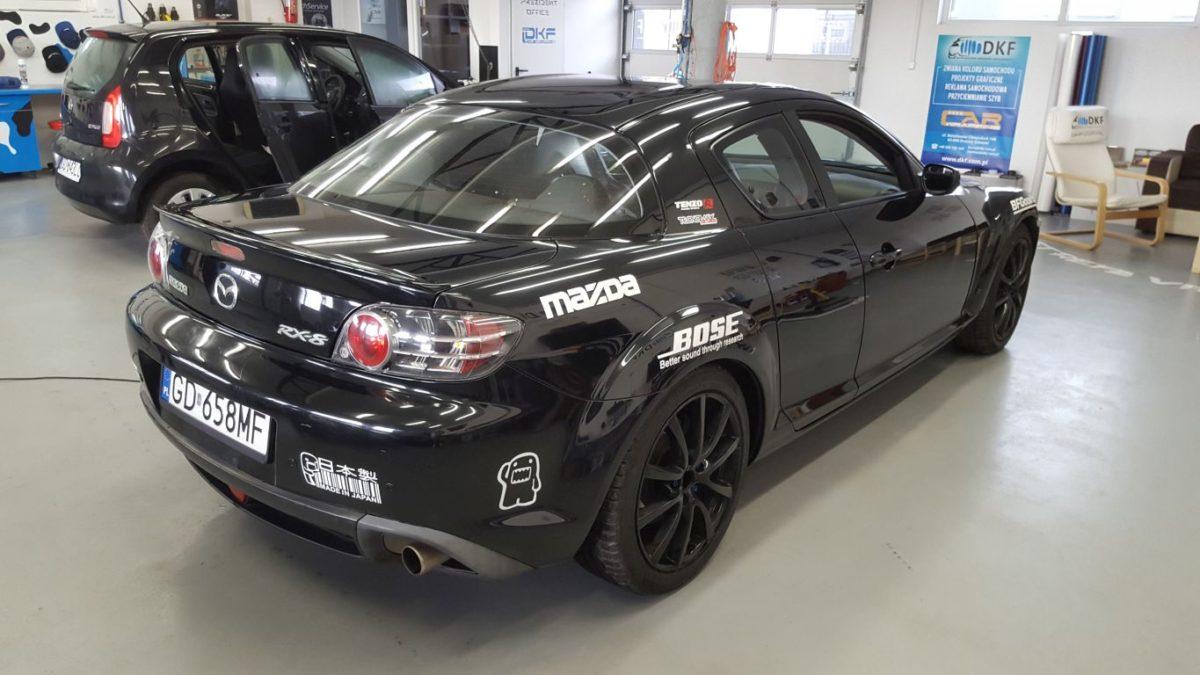Mazda RX-8 Zmiana Koloru – Sea Blue Stellar + Black Carbon