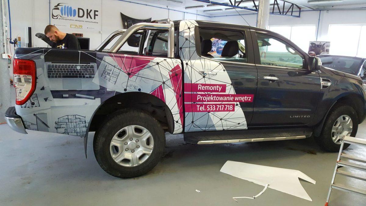 Ford Ranger Oklejanie Marketingowe