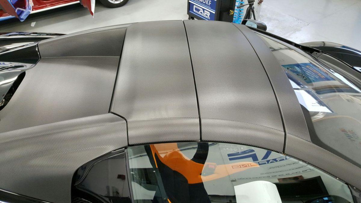 McLaren 675LT Częściowe Oklejanie – Carbon Black
