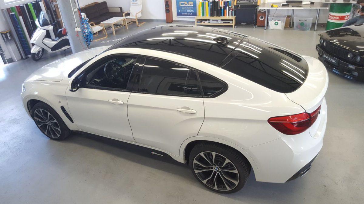 BMW X6 Oklejenie Dachu Czarny Połysk