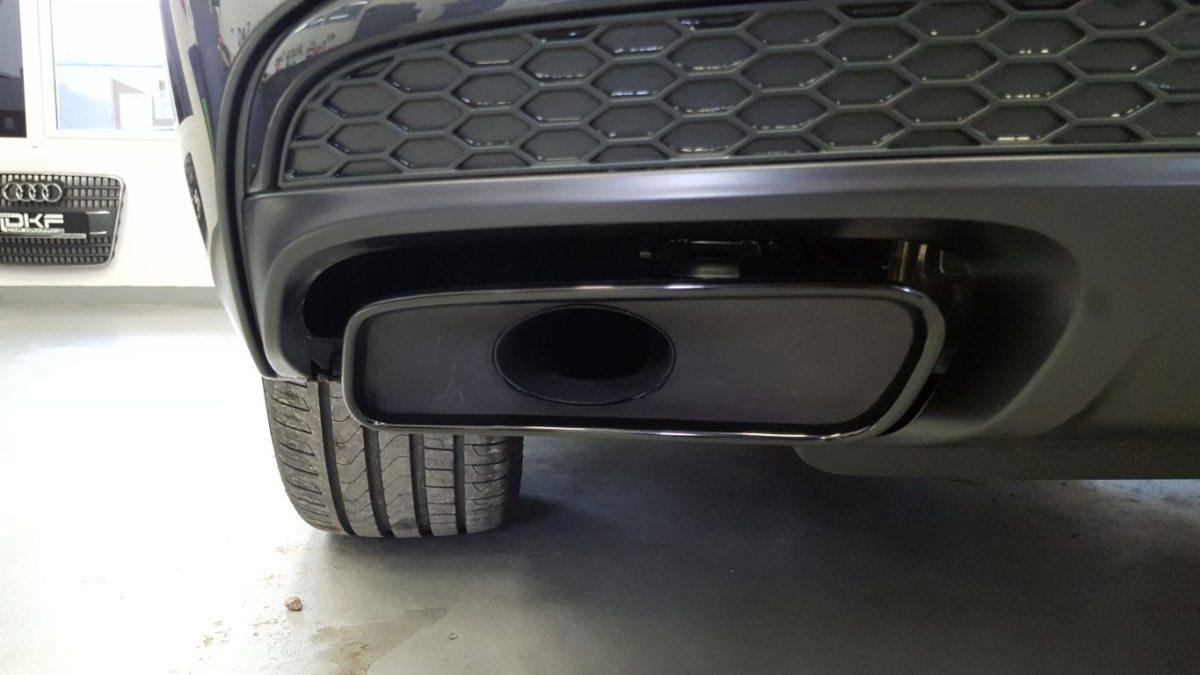 Audi Q7 Zabezpieczenie Folią PPF Tylnej Części Zderzaka