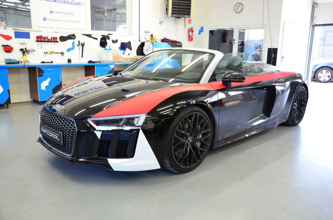 Audi RS Spyder Częściowe Oklejanie