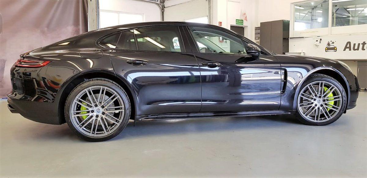Porsche Panamera Hybryda Całościowe Zabezpieczenie Lakieru Folią PPF + Detailing Całości