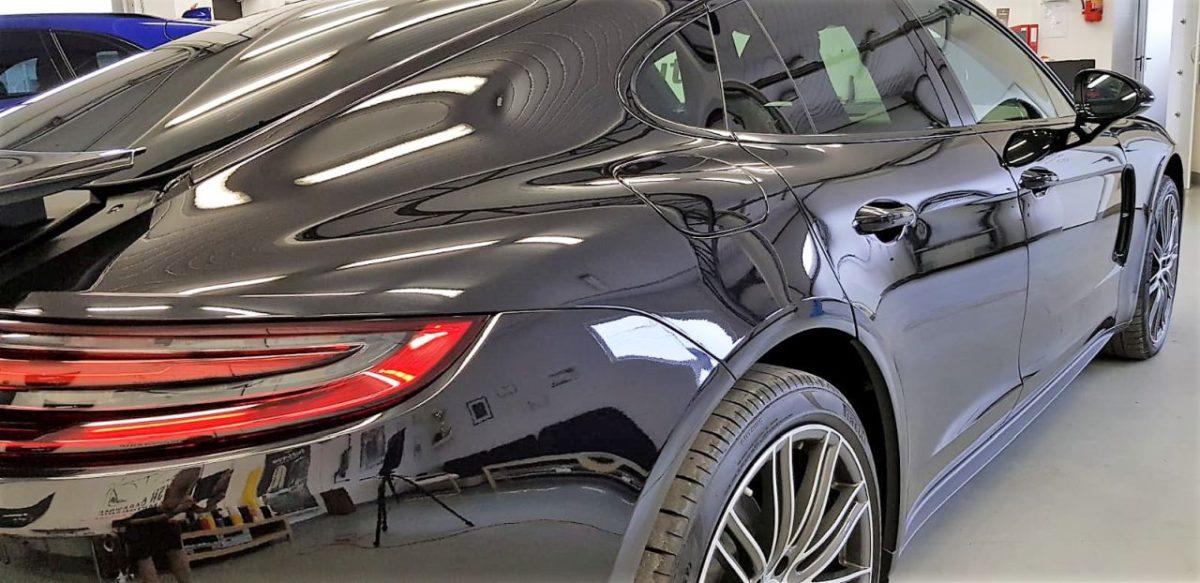 Porsche Panamera Gran Turismo Zabezpieczenie Lakieru Folią PPF + Powłoka Ceramiczna